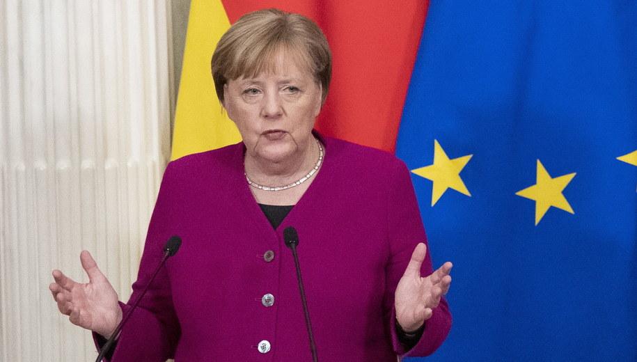 Angela Merkel /PAVEL GOLOVKIN / POOL /PAP/EPA