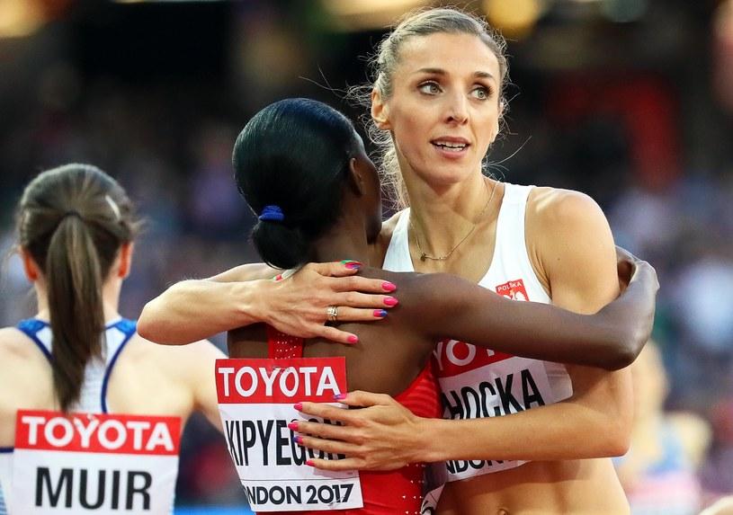 Angelika Cichocka po biegu półfinałowym /PAP/EPA