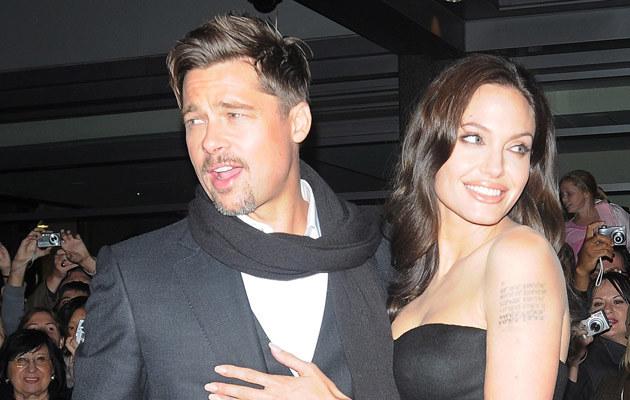 Angelina i Brad, fot. Arnaldo Magnani  /Getty Images/Flash Press Media