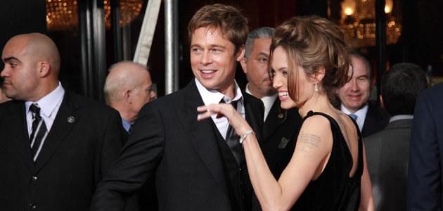 Angelina i Brad, fot. Evan Agostini  /Getty Images/Flash Press Media