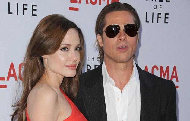 Angelina Jolie i Brad Pitt, fot.Jason Merritt  /Getty Images/Flash Press Media