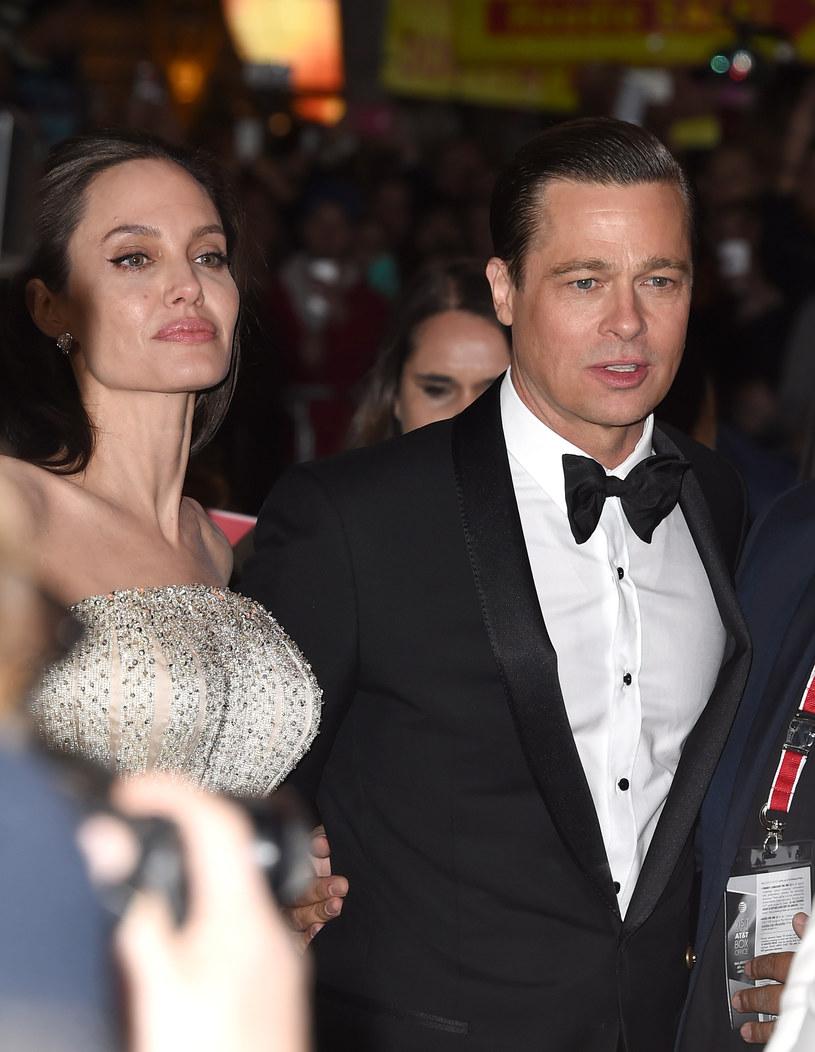Angelina Jolie i Brad Pitt jeszcze jako para /Getty Images