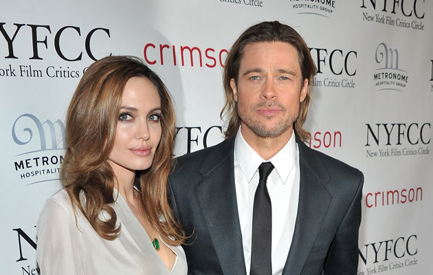Angelina Jolie i Brad Pitt na festiwalu w Palm Springs.   /Stephen Lovekin /Getty Images