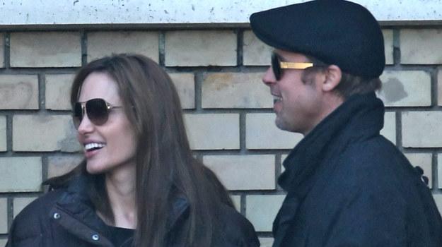 Angelina Jolie i Brad Pitt na planie reżyserskiego debiutu aktorki w Budapeszcie /
