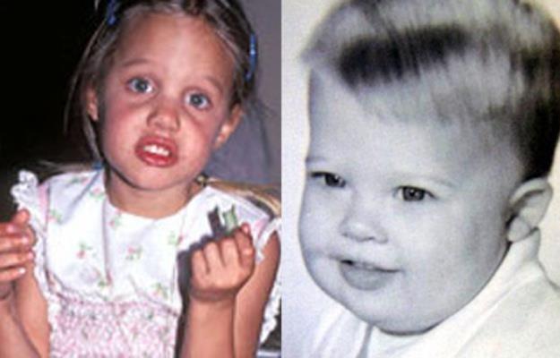 Angelina Jolie i Brad Pitt niczym nie wyróżniali się od innych dzieci... /materiały prasowe