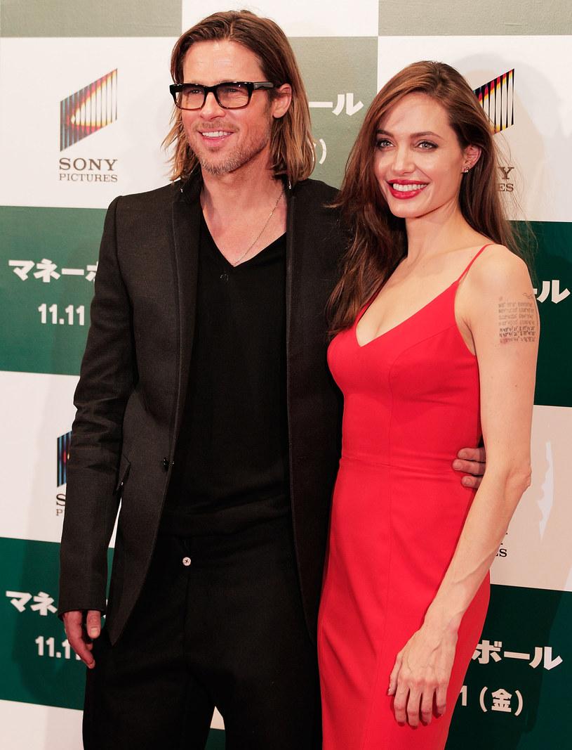 Angelina Jolie i Brad Pitt /Adam Pretty /Getty Images
