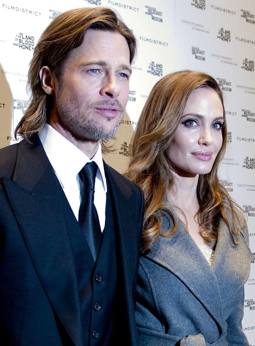Angelina Jolie i Brad Pitt /Leigh Vogel /Getty Images