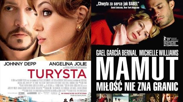 "Angelina Jolie i Johnny Depp (""Turysta"") oraz Gael Garcia Bernal i Michelle Williams (""Mamut"") /materiały dystrybutora"