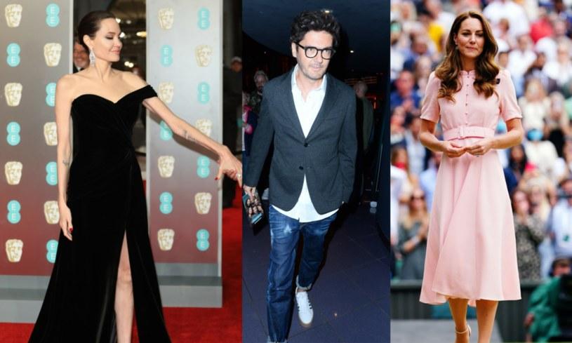 Angelina Jolie, Kuba Wojewódzki  i księżna Kate to przykłady znanych osób o typie sylwetki ektomorficznej /Lia Toby / WENN.com; TRICOLORS; Rex Features /East News