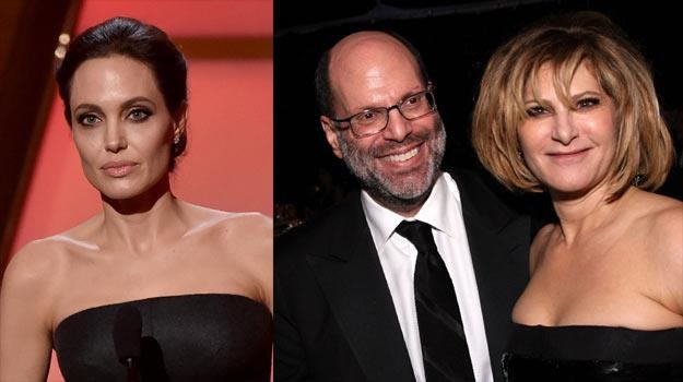 Angelina Jolie (L) oraz Scott Rudin i Amy Pascal /Getty Images