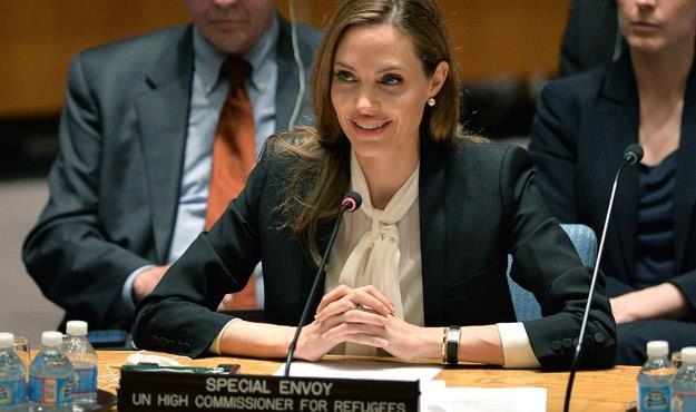 Angelina Jolie na sesji ONZ /AFP