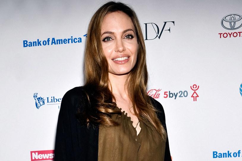 Angelina Jolie na Światowym Kongresie Kobiet w Nowym Jorku, 4 kwietnia 2013 r. /Getty Images/Flash Press Media