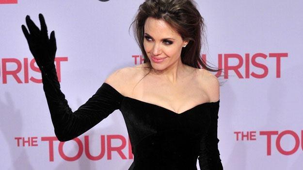 Angelina Jolie nie kryła rozbawienia /AFP