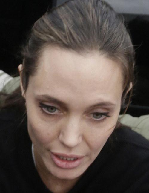 Angelina Jolie tak wyglądała jeszcze nie tak dawno /Pavlos Karabatsis / Splash News;  /East News