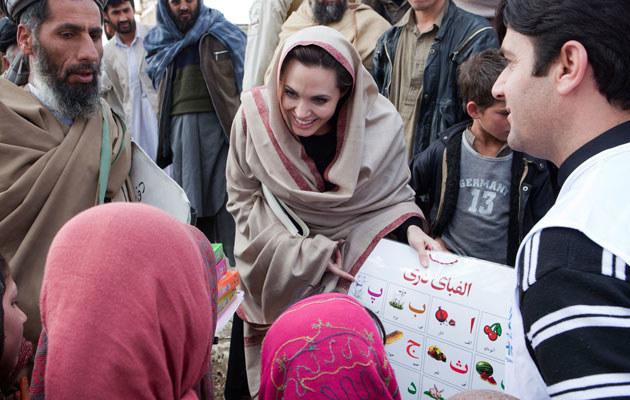 Angelina Jolie w Afganistanie  /Agencja FORUM