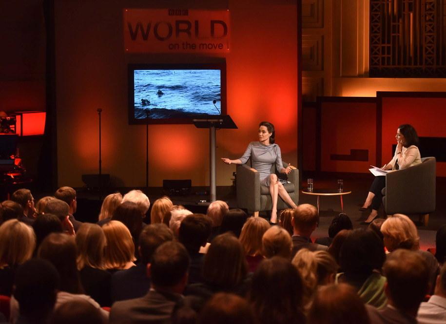Angelina Jolie w siedzibie BBC /PAP/EPA/JEFF OVERS / BBC NEWS / HANDOUT /PAP/EPA