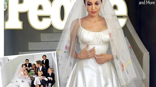 aa903059ee Nietypowa suknia ślubna Angeliny Jolie - Film w INTERIA.PL