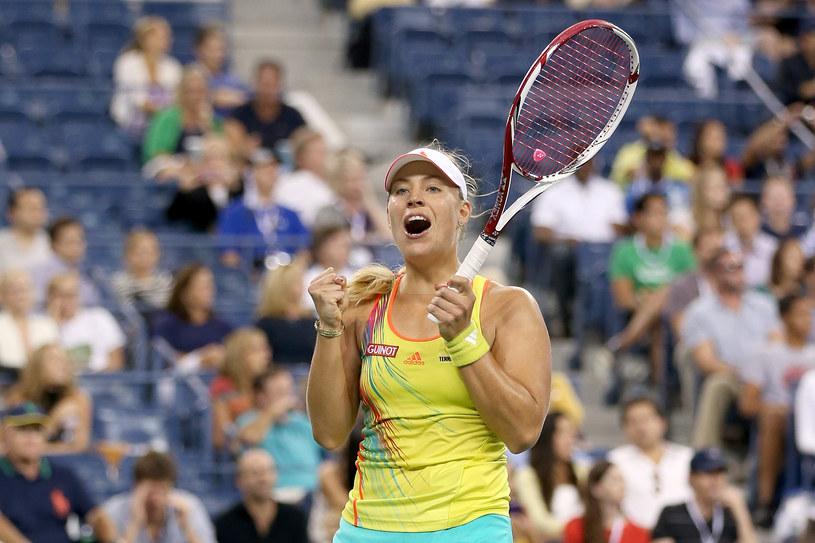 Angelique Kerber cieszy się ze zwycięstwa nad Venus Williams /AFP
