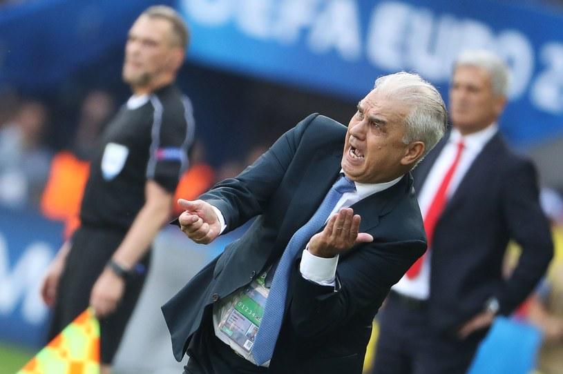 Anghel Iordanescu podczas meczu ze Szwajcarią /AFP