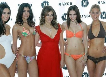 Angielski pokaz strojów kąpielowych Mango /AFP