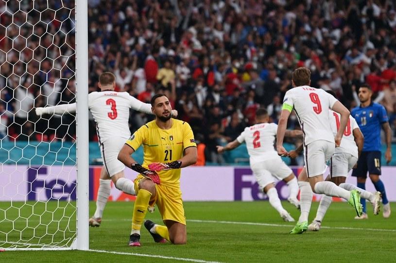 Anglia - Włochy po golu Luke'a Shaw /PAUL ELLIS /AFP