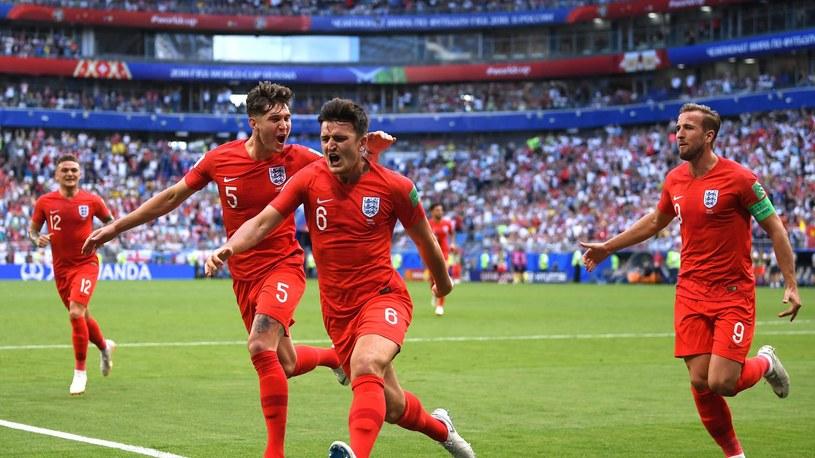 Anglicy cieszą się po golu w meczu ze Szwecją /Getty Images