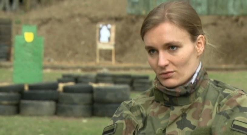 """Ania chce bronić ojczyzny /""""Uwaga!"""" /TVN"""
