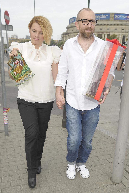 Ania Dąbrowska i Paweł Jóźwicki w 2011 roku /Baranowski /AKPA