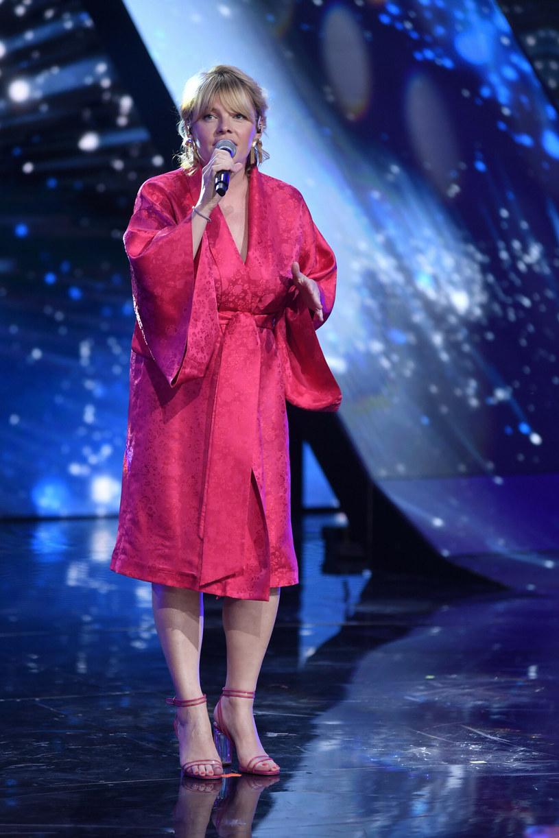 Ania Dąbrowska zachwyciła w Opolu modną stylizacją /LUKASZ KALINOWSKI /East News