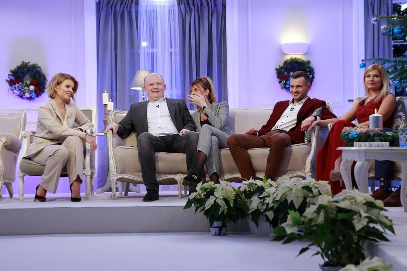"""Ania i Kuba razem na nagraniu świątecznego odcinka """"Rolnika"""" /Gałązka /AKPA"""