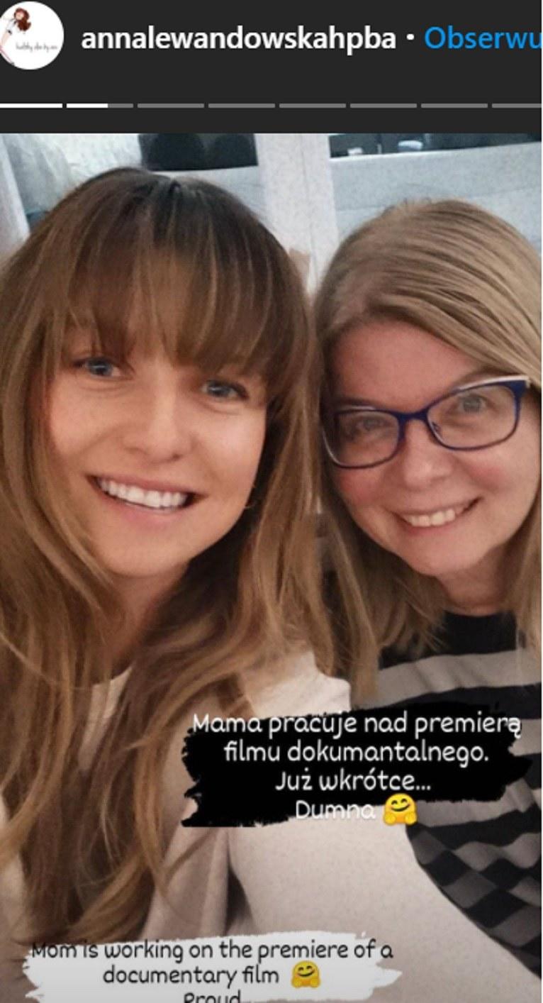 Ania Lewandowska pochwaliła się sukcesem mamy w mediach społecznościowych na InstaStories /Instagram /Instagram