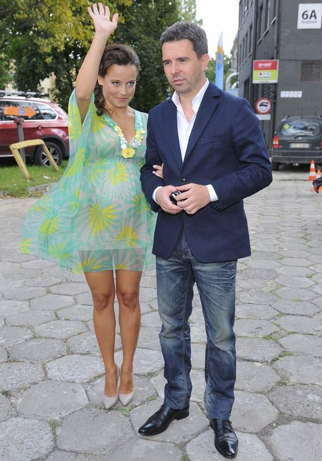Ania Mucha z menedżerem Filipem Mecnerem  /MWMedia