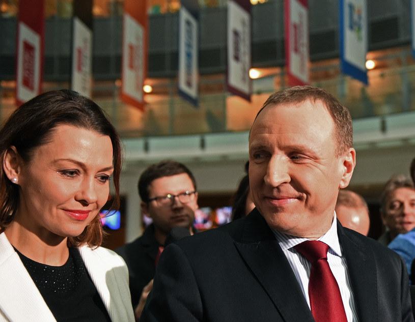 Ania Popek i Jacek Kurski /Adam Chełstowski /Agencja FORUM