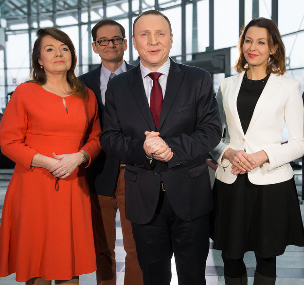Ania Popek z koleżankami i kolegami z pracy /Agencja FORUM