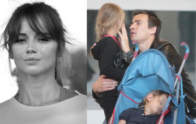 Ania Przybylska i Jarek z dziećmi /- /East News