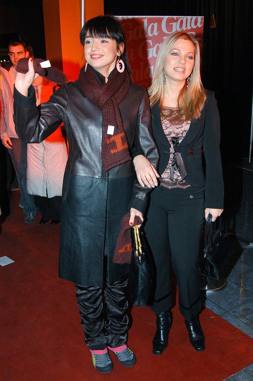 Ania Przybylska i Kasia Bujakiewicz w 2005 roku /Zawada /AKPA