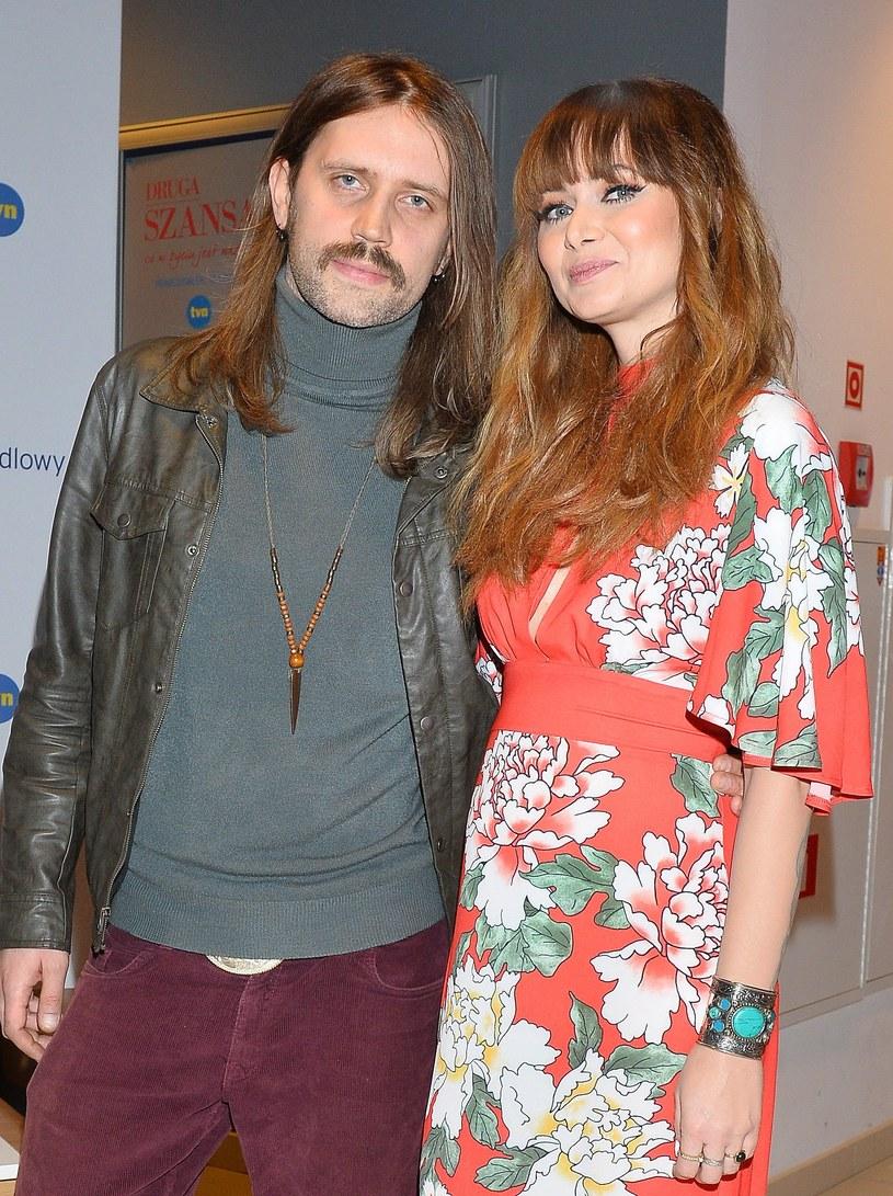 Ania Rusowicz z mężem /- /MWMedia