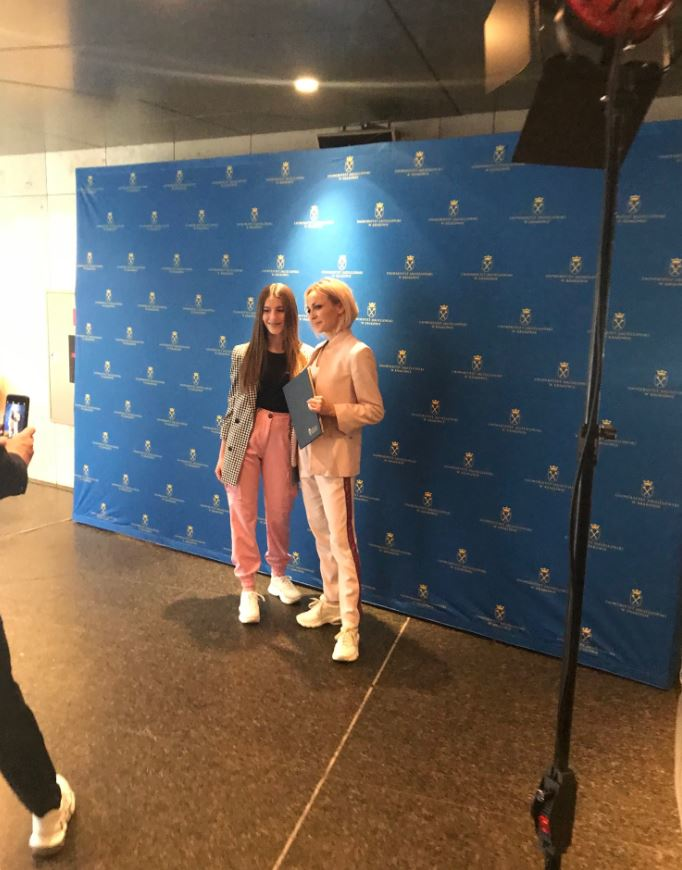 Ania Wyszkoni oraz Roksana Węgiel przed krakowskim dyktandem /Blanka Baranowska /RMF FM