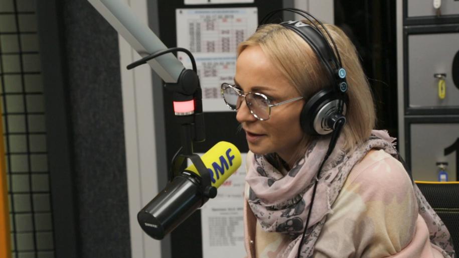 Ania Wyszkoni w studiu RMF FM /RMF FM