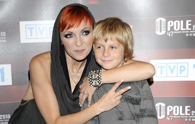 Ania Wyszkoni z synem, fot.Jarosław Antoniak  /MWMedia