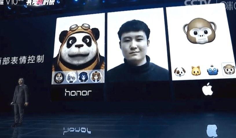 Animoji w wydaniu Honora wydaje się być bardziej zaawansowane /Phonearena /Internet