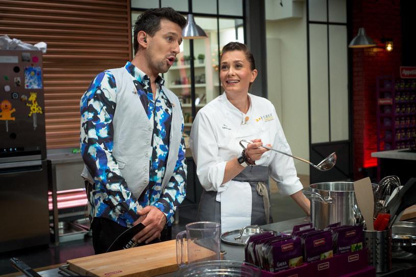 """Anita Sokołowska wyznała, że w sprawach kulinarnych nie ma zbyt dużego doświadczenia / fot. K. Kalisz, """"Top Chef. Gwiazdy od kuchni"""" /Polsat"""