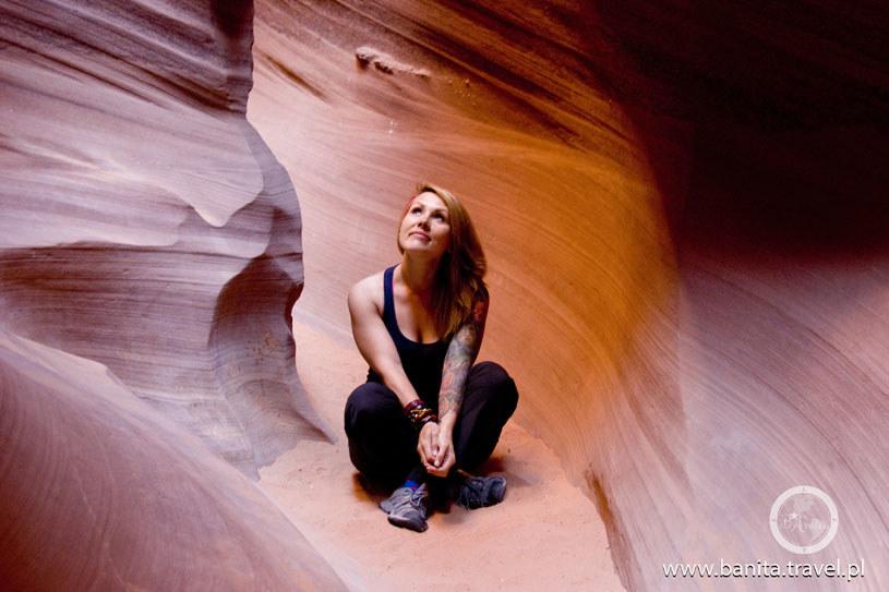 Anita w Kanionie Antylopy w Arizonie (USA) /archiwum prywatne