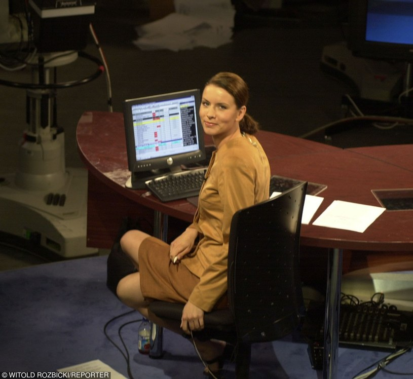 Anita Werner w 2001 roku w telewizji TVN /Witold Rozbicki /Reporter