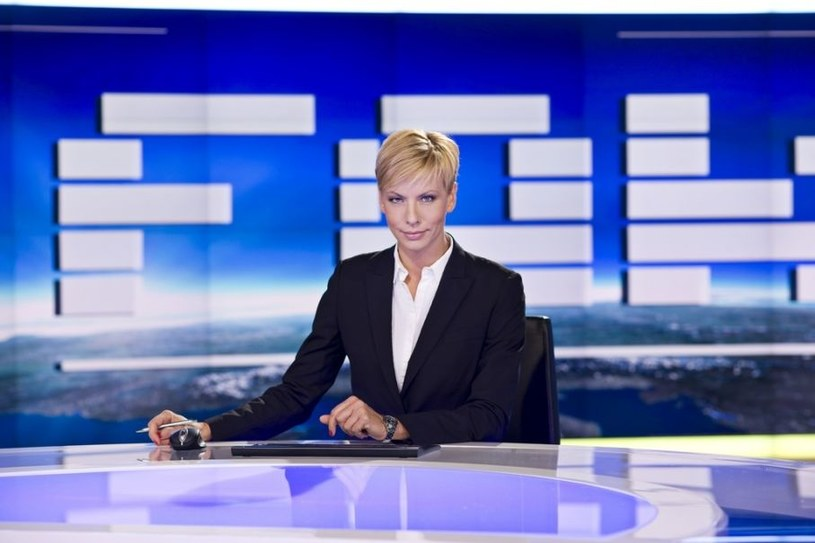 """Anita Werner w roli prowadzącej """"Fakty"""" /TVN"""