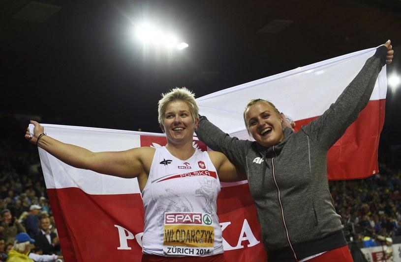 Anita Włodarczyk i Joanna Fiodorow podczas mistrzostw Europy /AFP
