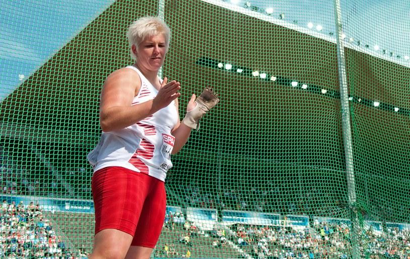 Anita Włodarczyk podczas lekkoatletycznych ME w Helsinkach /. /PAP/EPA
