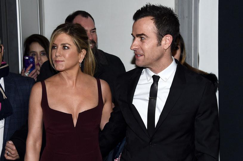 Aniton i Theroux niedawno ogłosili rozstanie /Dimitrios Kambouris /Getty Images