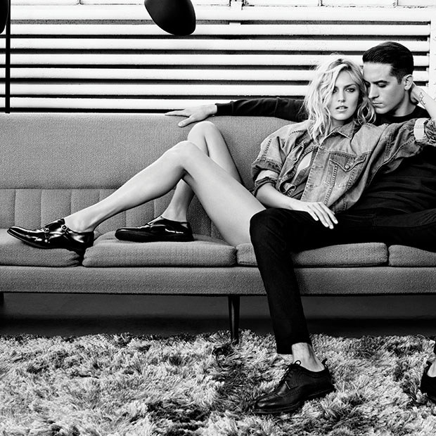 Anja Rubik i G-Eazy w kampanii wiosna-lato 2015 William Rast /materiały prasowe