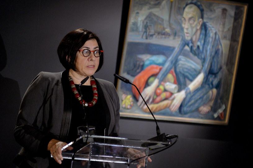 Anna Azari podczas obchodów rocznicy wyzwolenia obozu Auschwitz /LUKASZ KALINOWSKI /East News
